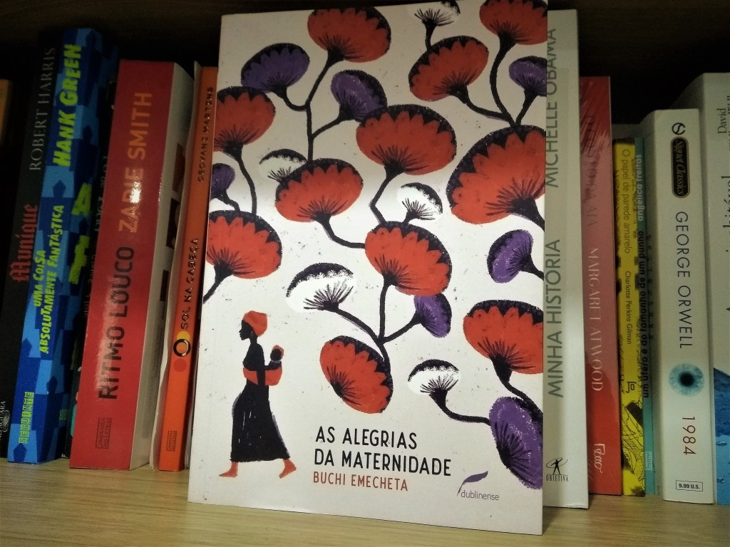 Livro As Alegrias da Maternidade, da escritora nigeriana Buchi Emecheta.
