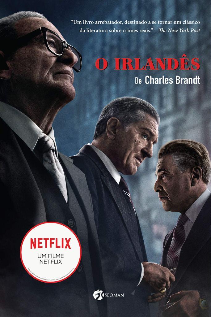 Capa do livro O Irlandês, que inspirou o filme de mesmo nome, que concorre ao Oscar 2020 de Melhor Roteiro Adaptado.