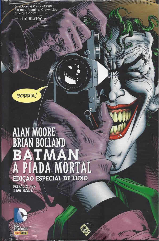 Capa da história em quadrinhos Piada Mortal, contendo o personagem da DC que inspirou o filme Coringa, que concorre ao Oscar 2020 de Melhor Roteiro Adaptado.