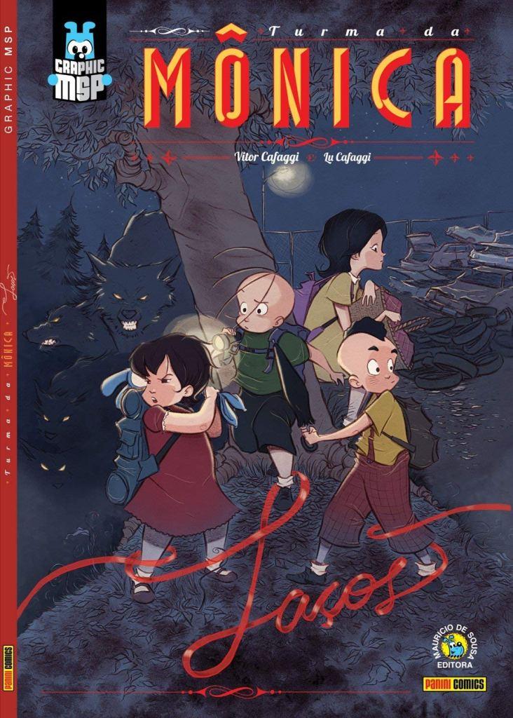 Capa da Graphic Novel Turma da Mônica: Laços